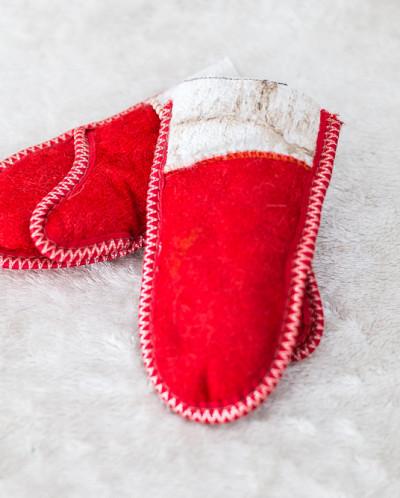 Детский Комплект Красный, 100% овчина