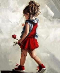 Юная леди - алмазная мозаика