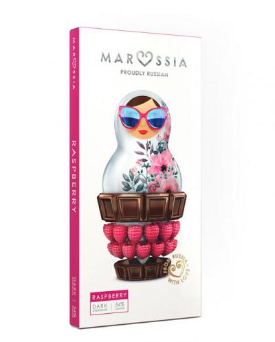 "Шоколад ""MARUSSIA"" Темный с малиной 54%, 100гр*10"