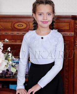 Джемма  блузка трикотажная , белая