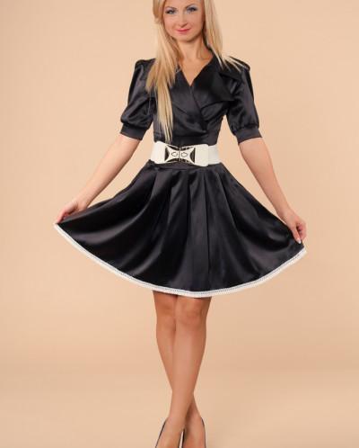 Платье № 870-черный