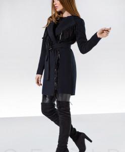 Кашемировое пальто бахрома