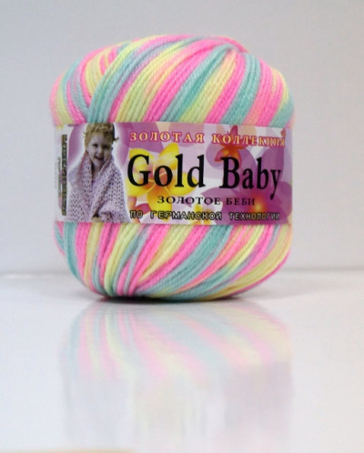 Пряжа GOLD BABY 48% шерсть 52% шелк иск., 150 м, 50 гр.