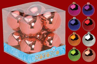"""Набор шаров """"Новогодний"""", диаметр 85 мм, глянцевый"""