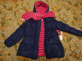 Новая утепленная  куртка р.122-128см.
