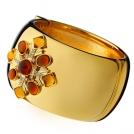 Позолоченный браслет с кристаллами Сваровски