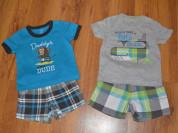 Костюм Carters футболка и шорты на 6-9 мес.