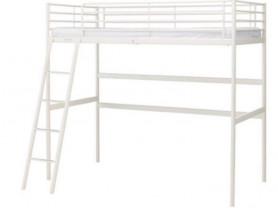 кровать -чердак беленькая