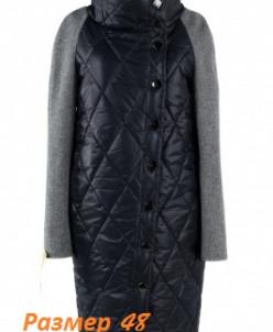 Пальто женское демисезонное (пояс). Твид/Плащевка