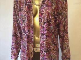 Блуза нарядная, трикотажная, рубахой, б. у