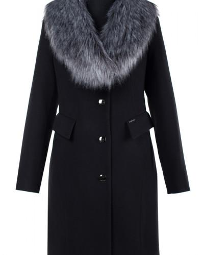 Пальто женское утепленное Кашемир Черный