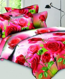 Сатин - Красные розы (0075)