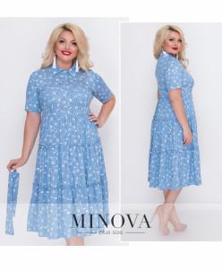 Платье №18-20-Голубой
