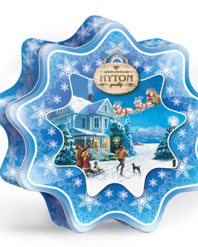 Чай Хайтон Снежинка Волшебные каникулы 80г ж\б.