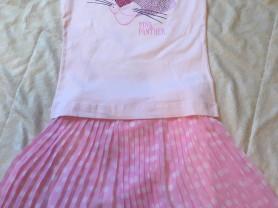 Новые летние вещи для девочки  футболки шорты двойки на рост 128 - 134 см
