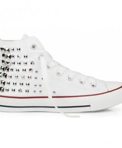 Белые высокие с клепками Converse AllStars!