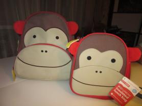 Skip-Hop Zoo Pack рюкзак+ланчбокс Зебра, Обезьянка