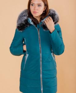 Женская куртка арт.6215 темно-бирюзовая