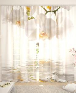 Фототюль Белые орхидеи