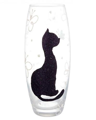 "Ваза 11*11*26 см ""Черная кошка"" бочонок"