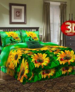 Бязь 3Д - Желтые ромашки (4227)
