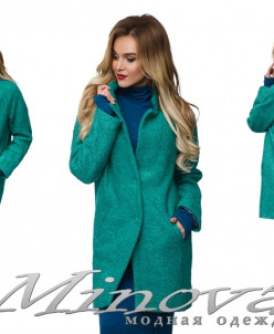 Пальто №8566 (Бирюза)