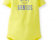 "Боди с коротким рукавом ""Малышка-гений"" Carters"