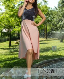 Платье асимметричной длины 13916