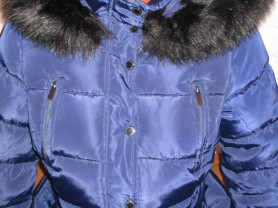 Пуховик зимний с мехом  44-46м