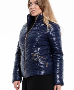 Женская куртка большого размера Улла темно синий