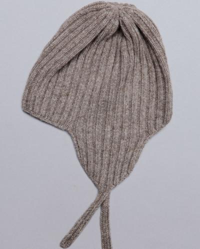 Шапка ушанка из шерсти 100% серый, Монголия