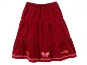 Бордовая юбка Gymboree p.8 вельвет