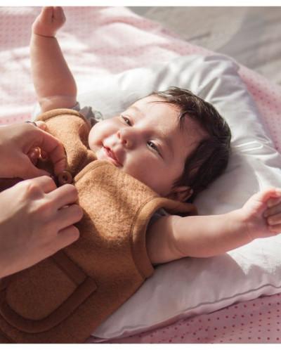 Жилет детский из 100% верблюжьей шерсти валяный премиум