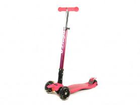 Детский трехколесный самокат Bonza Funky розовый