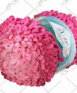 "Пряжа ALIZE ""PUFFY FINE OMBRE batik"" (500 г) 7279 (розовый)"