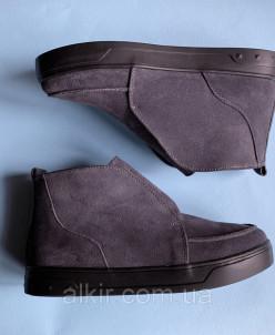 Ботинки 514-1 серая замша (люси 8 черн)