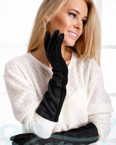 Длинные женские перчатки