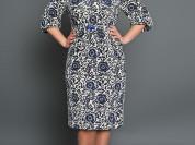 Платье с весенним настроением на 50-52