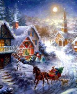 Рождество - алмазная мозаика