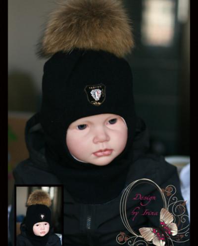 """Шлем для мальчика """"Фэшн""""(черн)."""