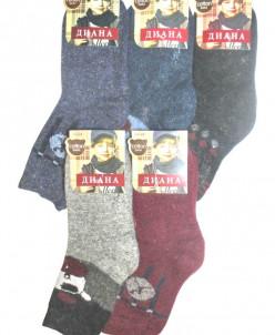 Детские носки тёплые Диана G364 шерсть 35-38