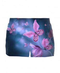 Шорты Фиолетовые бабочки в сумраке