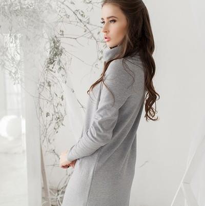 Теплое платье №01336