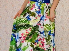Новое длинное платье -рубашка Турция 44