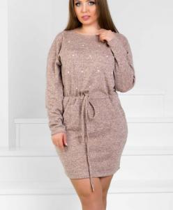 Женское платье 18100 бежевый