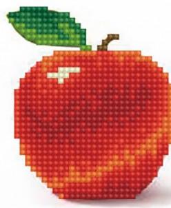 Яблоко - вышивка крестиком