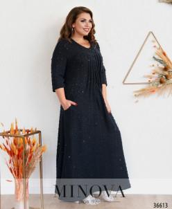 Платье №387-1-Синий