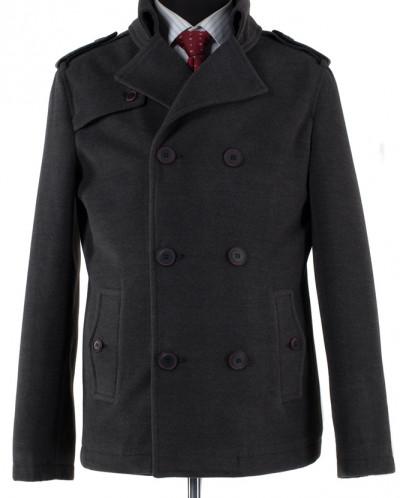 06-0169 Пальто мужское демисезонное (Рост 182) Кашемир Темно