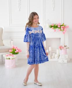 Платье «Бархат и волан»