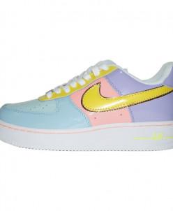 Кроссовки Nike Air Force 1 '07 Yellow Pink